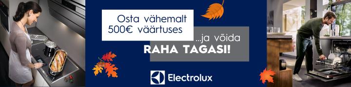 Osta Electroluxi kodumasinaid ja võida raha tagasi!