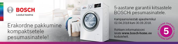 5 aastat kitsastele BOSCH pesumasinatele