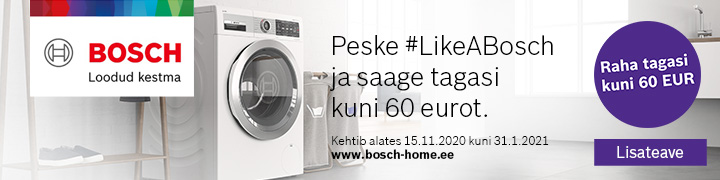 iDos nutika pesumasina ostja saab osa raha tagasi!