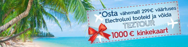 Osta Omegast Elctroluxi kraami ja lenda puhkusereisile!