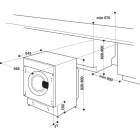 Whirlpool BIWMWG71483EEUN , Integreeritav kodutehnika, Integreeritavad pesumasinad
